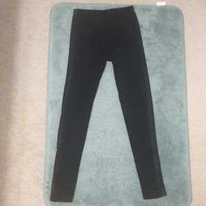 Pants - Leggings with leather stripe
